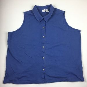 Cherokee plus women sleeveless polo shirt 22/24
